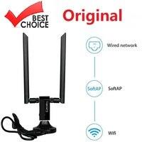 Adaptador USB 2,4 WiFi 3,0G/5G, con Base inalámbrica, CA 1200M, RTL8812AU, tarjeta de red de antena Dual 5dBi para Windows y Linux