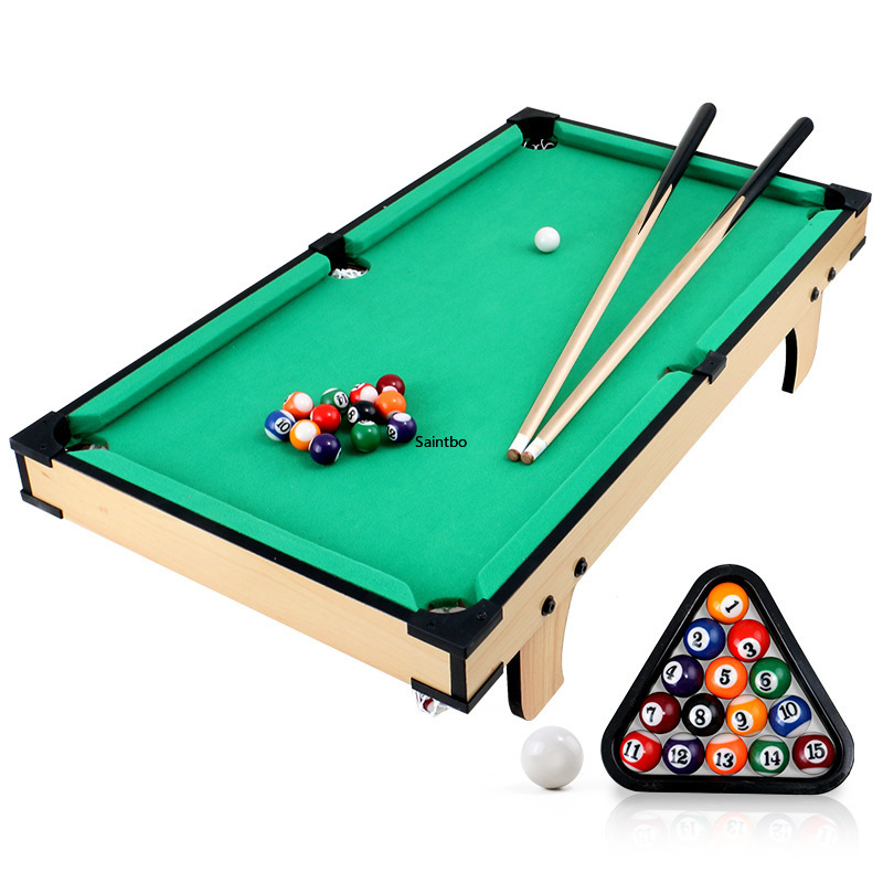 Children's Billiard Table Set Mini Pool Table Billiards Table With Balls And Cue 8-15 -year Old Kids Entertainment Play Sports