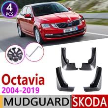 for Skoda Octavia A5 A7 1Z 5E 2004~2019 MK2 MK3 Fender Mud Guard Splash Flap Mudguards Accessories 2005 2006 2010 2013 2015 2018