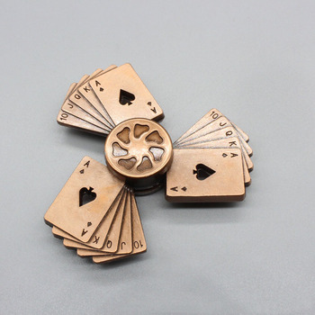 Playing Cards Finger Metal EDC Hand Spinner Wheel Toy Autism ADHD Relief Focus Anxiety Stress Toys led light finger spinner aluminum edc hand spinner for autism and adhd anxiety stress relief focus toys gift m2