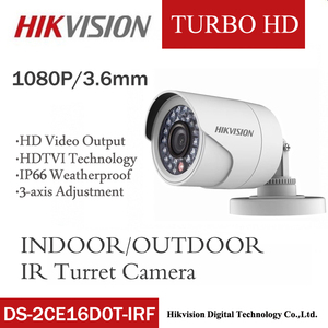 Hikvision DS-2CE16D0T-IRF CVBS/AHD/TVI/CVI 2MP HD1080P IR 20m zewnętrzny i wewnętrzny dziki kąt noktowizor wodoodporna kamera HD