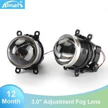 Lumière de projecteur de brouillard, lampes D2H H11, 3.0 pouces, réglage
