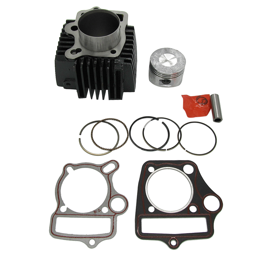 <font><b>52mm</b></font> Big Bore Cylinder <font><b>Piston</b></font> <font><b>Rings</b></font> Pin Gaskets Kit For 110cc Motorcycle ATV image
