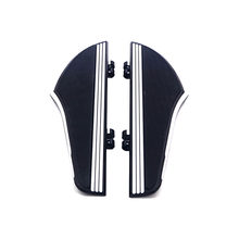 Motorcycle Front Rear Driver Floorboards Foot Pegs Brake Pedal Cover Black&Chrome For Harley Touring Electra Glide Softail Dyna
