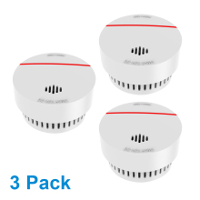 CPVan 3pcs/Lot Fire Detector 10 Years Battery CE Certified EN14604 Fire Alarm Wireless Smoke Detector Sensor Smoke Gas Detector