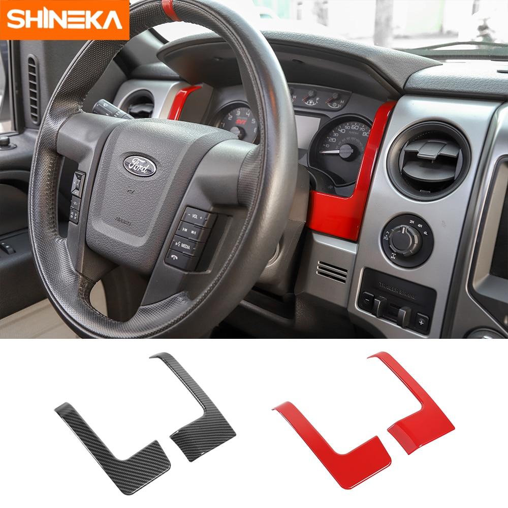 SHINEKA-moulage d'intérieur de tableau de bord, accessoires, couverture de tableau de bord, pour Ford F150, 2009, 2010, 2011, 2012, 2013, 2014