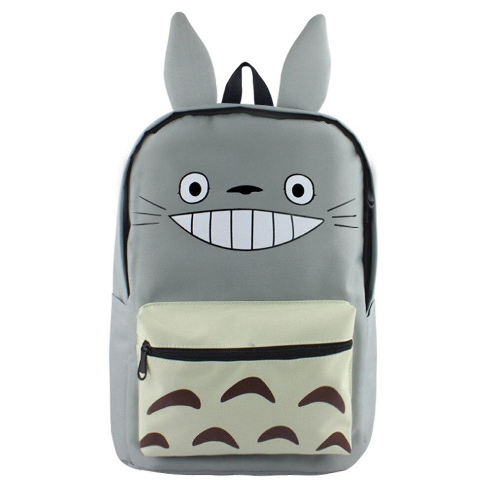 Grand sac à dos unisexe impression Tonari pas de sac d'école Totoro sac à dos en toile sac à bandoulière de voyage de bande dessinée