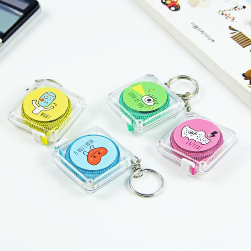 1 Pcs Lovely Tape Measure Monster Candy Color Leather Ruler Box Portable Fashion Design School Stationery Supply