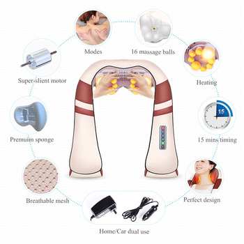 jinkairui u shape electrical shiatsu back neck shoulder massager and  infrared 4d kneading body spa
