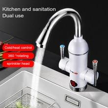 Cozinha elétrica aquecedor de água torneira display digital velocidade elétrica aquecedor de água quente de alta potência aquece se mais rápido plugue da ue