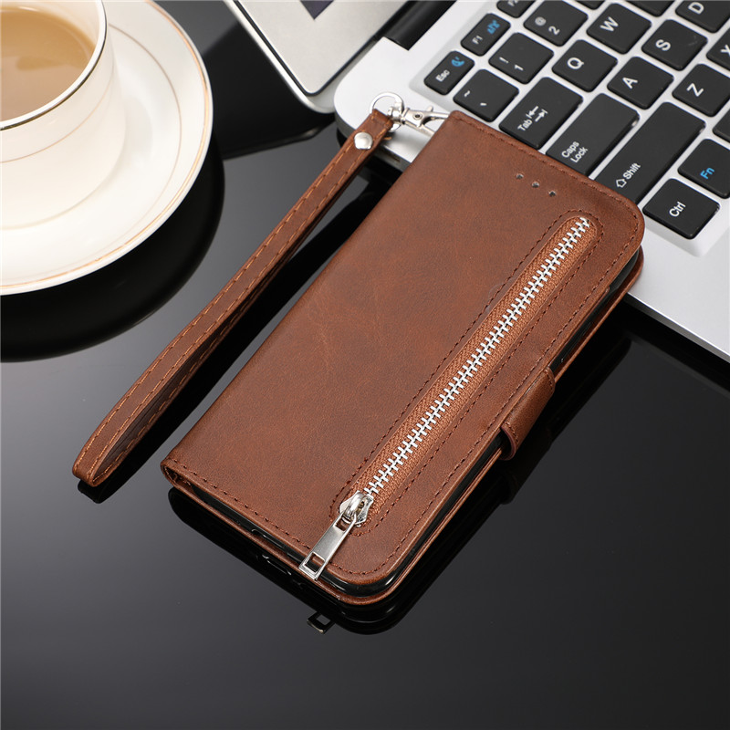 H0c3a5e0907a7448199180907a52378d5s Leather Zipper 8plus Flip Wallet Case For iPhone 11 Pro X XS MAX XR 6 6s 7 8 Plus Card Holder Stand Phone Cover Coque Etui Mujer