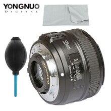 YONGNUO YN50mm F1.8 nikon için lens D800 D300 D700 D3200 D3300 D5100 DSLR kamera canon lensi EOS 60D 70D 5D2 5D3 600D orijinal
