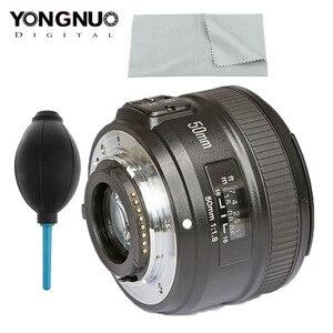 Image 1 - YONGNUO YN50mm F1.8 nikon için lens D800 D300 D700 D3200 D3300 D5100 DSLR kamera canon lensi EOS 60D 70D 5D2 5D3 600D orijinal