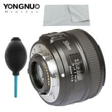 YONGNUO lente YN50mm F1.8 para Nikon D800 D300 D700 D3200 D3300 D5100 lente de cámara DSLR para Canon EOS 60D 70D 5D2 5D3 600D Original