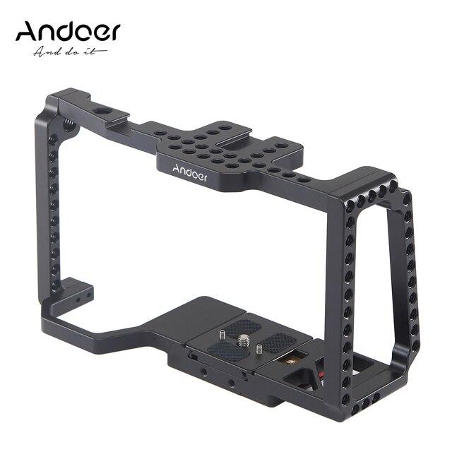 Andoer カメラケージワイドスクリーンビデオフィルム映画作るケージとクイックリリースのための 1/4 インチ 3/8 インチシューマウントカメラ 4 18K/6 18K BMPCC 4 18K 6 18K