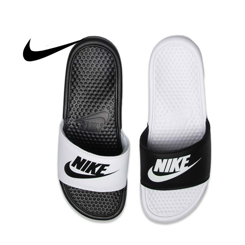 Hot Deal #3093 Nike NIKE BENASSI JDI Black And White