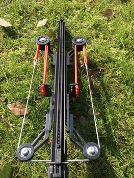 Neptune 8x catapult hunting fishing bow catapult fish reel continuous shooting 40 balls and steel arrow fishing bow string line 3