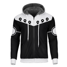 Cloudstyle 2019 Winter Anime 3D Fleece Zipper Mens Hoodies Naruto Printed Fashion Thick Hoodie Coat Streetwear