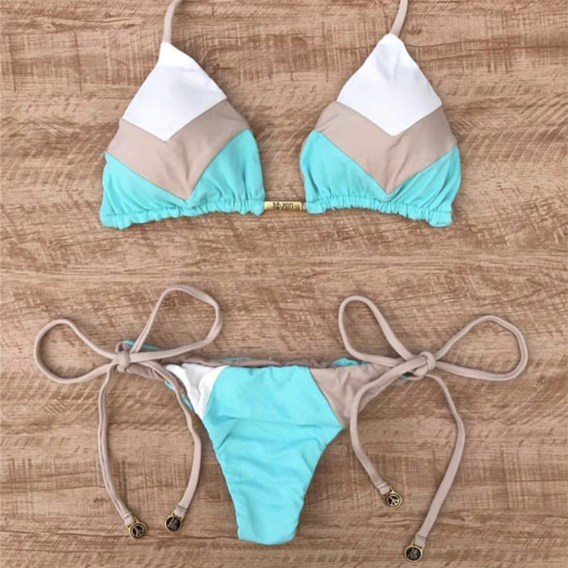 H0c3ad27a0fdf47c99b314495e62e8df9f 2019 Sexy Bikinis Women Swimsuit Bandage Halter Beach Wear Bathing suits Push Up Swimwear Female Brazilian Bikini Set
