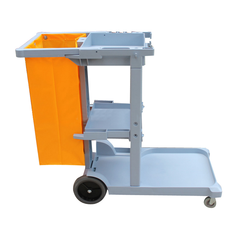 Hotel Cleaning Car Hygiene Cleaning Garbage Trolley Bag Multi-function Stainless Steel Property Cleaning Cloth Truck