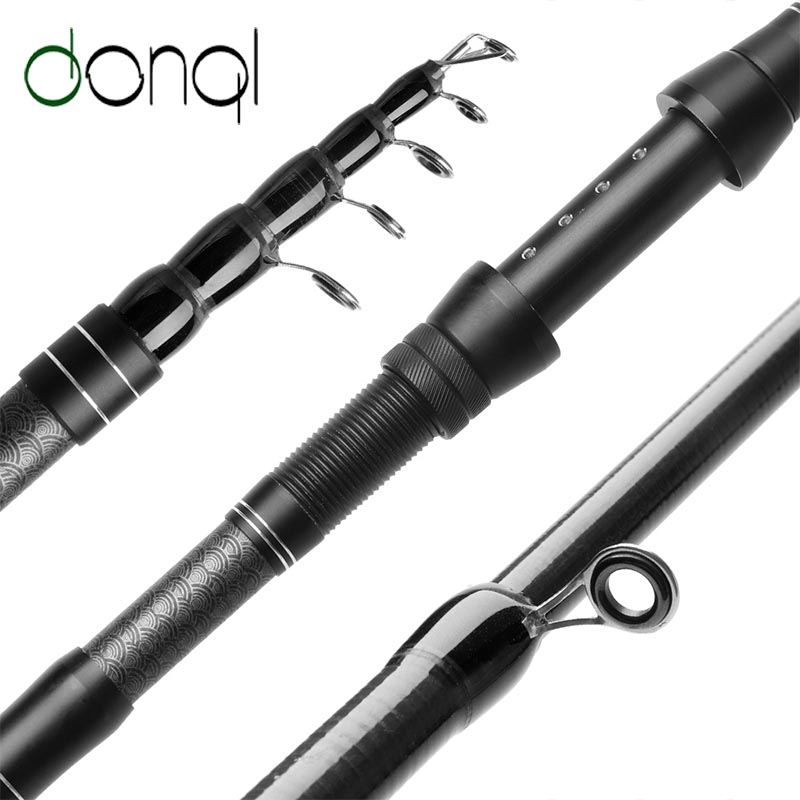 DONQL Carbon Fiber Telescopic Fishing Rod Portable Travel Spinning Rod 1.8 3.0M Carp Feeder Rod Ultrashort  Fishing Accessories|Fishing Rods| |  - title=