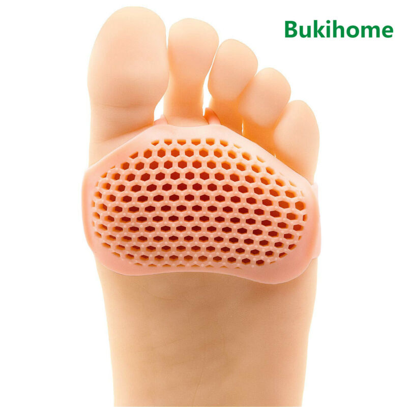 Bukihome 8Pcs Silicone Metatarsal Forefoot Pads For Women Silicone Foot Cushion Protectors For Callus Corn Blister Health D2742