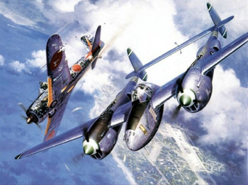 Painting By Number US Air Force P38 Lightening Fighter japan Zero WW2 Military