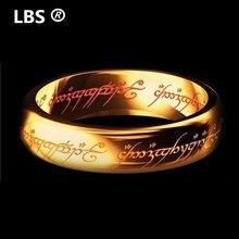 Anel de tungstênio um anel de ouro de energia o filme de anel lvers mulheres e homens moda jóias atacado livre navio da gota
