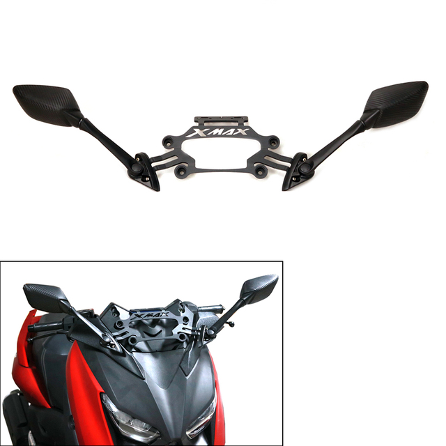 Motorcycle XMAX300 Rear View Mirrors Front Fixed Stent Mobile hone Bracket Holder For Yamaha XMAX X-MAX 250 300 2017 2018 2019