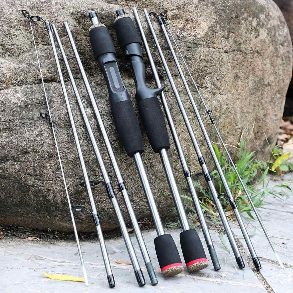 Sougayilang 1.7 メートル釣竿 5 セクションポータブルロッド回転と鋳造海水淡水釣具