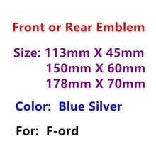 Серебристый синий ABS 3D Авто капюшон передний капот Стайлинг автомобильной решетки Эмблема Логотип автомобиля задний багажник знак Стикеры ...