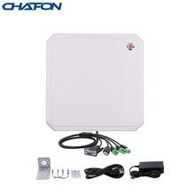 CHAFON 10M uhf lettore rfid a lungo raggio RS232 WG26 USB built in 9dbi circolare antenna aggiornamento del firmware di sostegno per il parcheggio auto