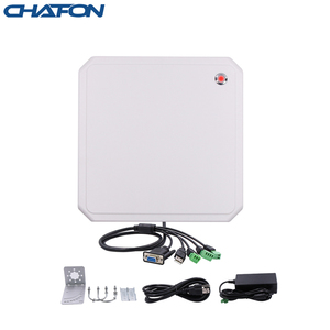 Image 1 - CHAFON lecteur rfid uhf, 10M, antenne circulaire 9dbi intégrée, prise en charge de la mise à niveau du micrologiciel pour stationnement de voiture, longue portée RS232 WG26, USB