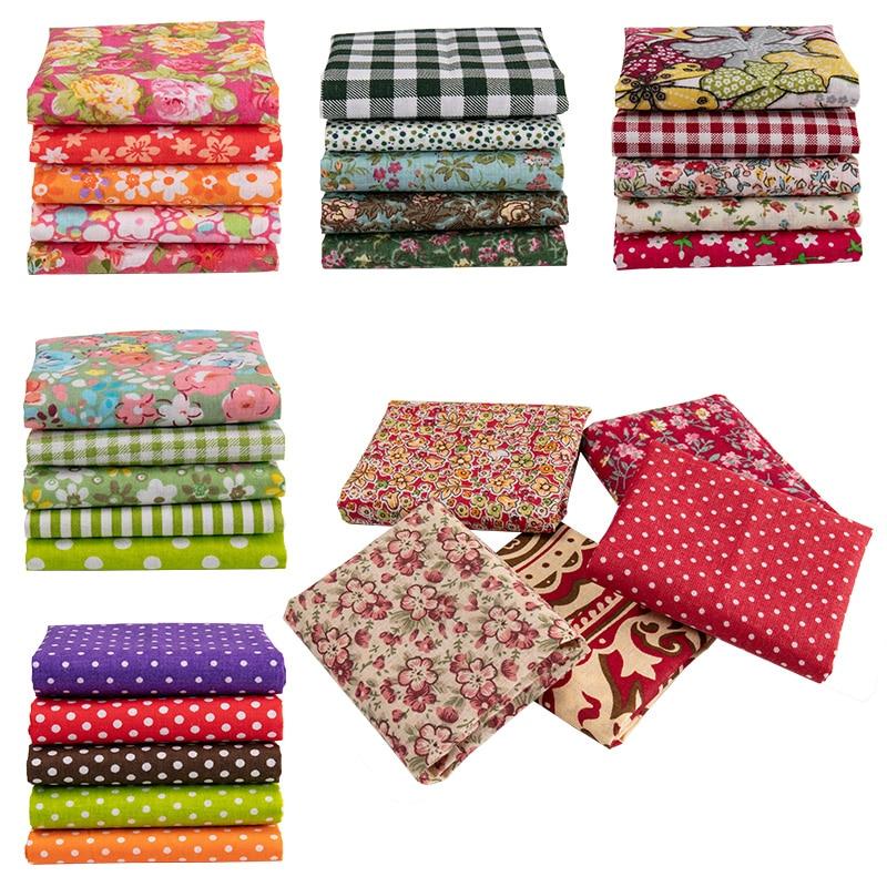 25x25cm /Pc Vintage Printed Patchwork Fabrics Doll Handmade Accessories Floral Cotton Fabrics For DIY TJ0537-2-1