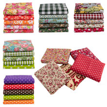 25x25cm /pc vintage printed patchwork fabrics doll handmade accessories floral cotton fabrics for DIY TJ0537-2(China)