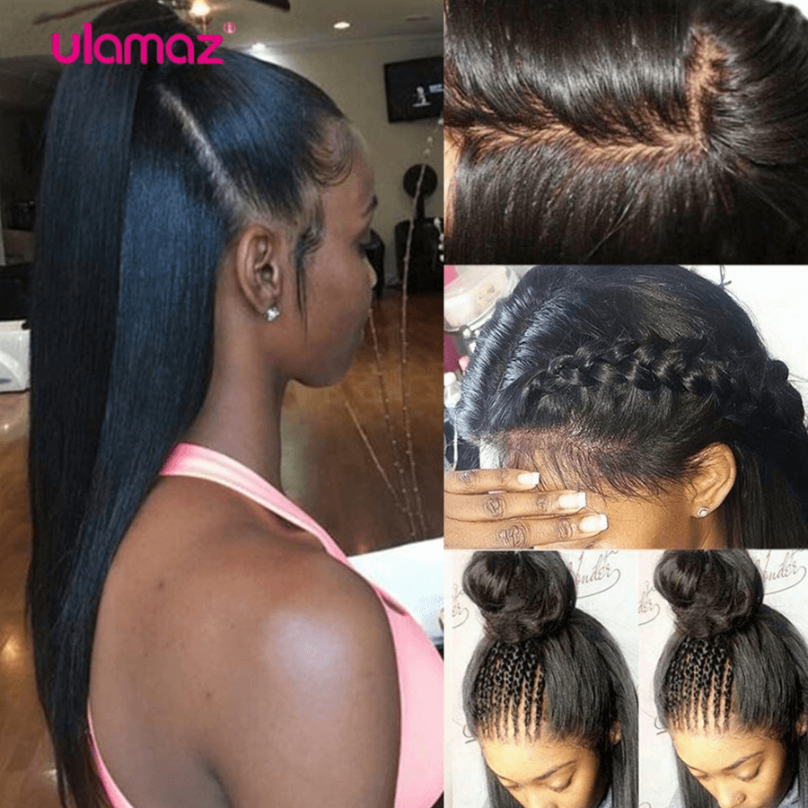 360 Lace Frontal Wig Pre plucked Human Hair Lace Frontal Wigs For Black Women Indian Remy 360 Full Lace wig Human Hair Ulamaz