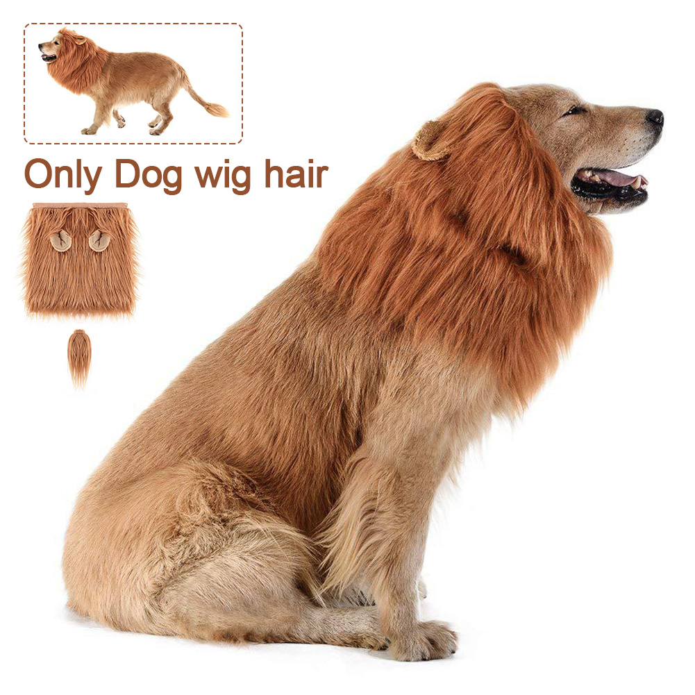 Cap Dress Up Cosplay Christmas Party Apparel Funny Winter Warm Costume Cute Hat Dog Wig Hair Halloween Large Pet Cat Clothing    - AliExpress