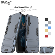 For Huawei Nova 5T Case Shockproof Slim Armor Rubber Hard PC Phone Back Cover Fundas