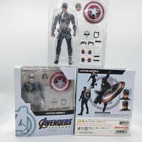 SHF Marvel Avengers 4 Endgame Marvel Amerikanischen Kapitän Amerika Action Figur Modell Spielzeug Puppe für Weihnachten Geschenk