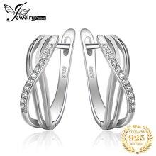 Jewelrypalace бесконечность любви серьги стерлингового серебра 925 Свадебные украшения подарок на день рождения для подруги тонкой моды подарок