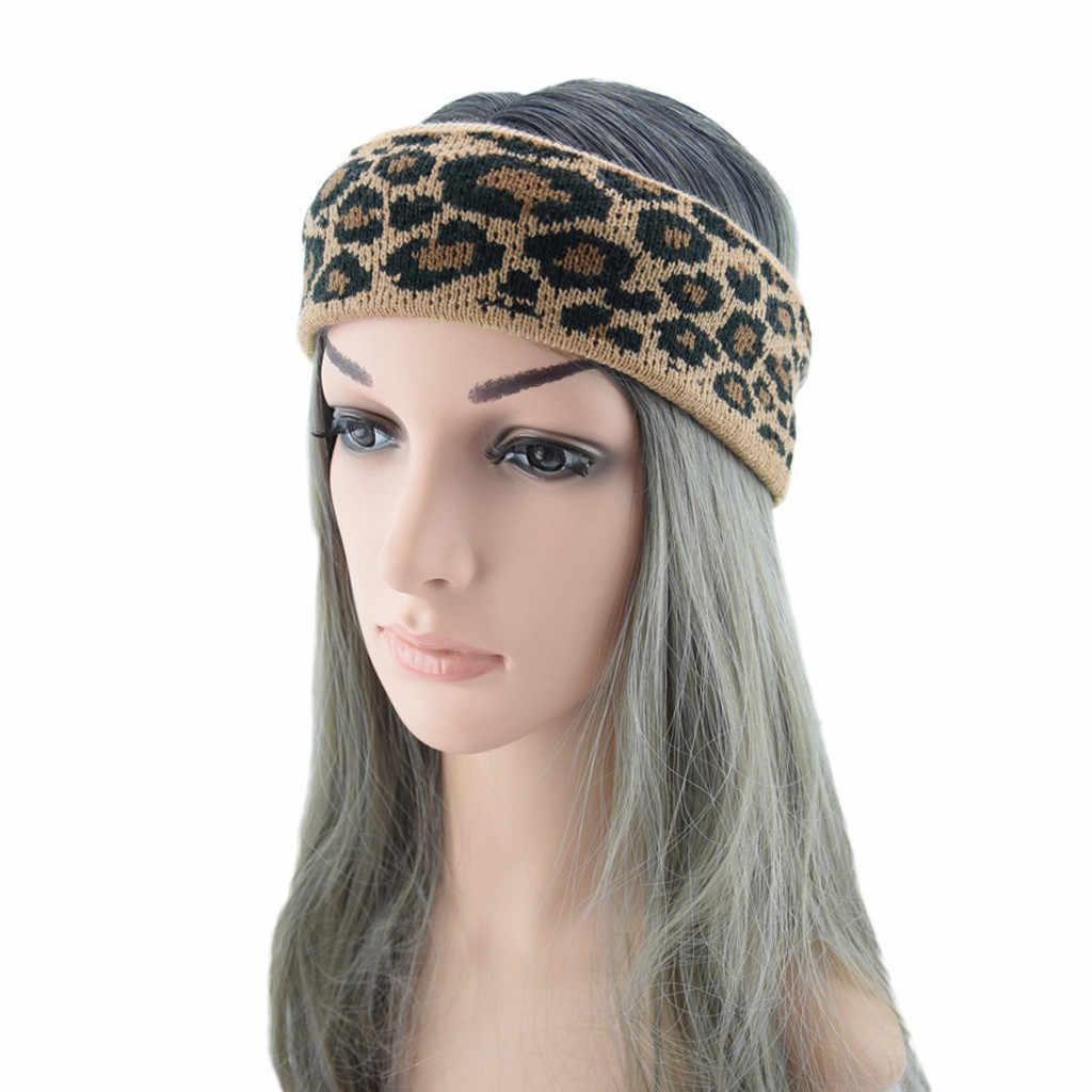 Madre e hijo mujer térmica leopardo diadema para la cabeza dulce niñas cabello diadema accesorios para el cabello Scrunchies diadema