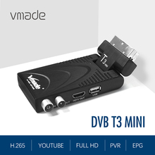 цена на 2020 newest DVB T3 Full HD DVB-T2 MINI TV receiver support YouTube USB WIFI DVB T2 H.265 Decoder TV Tuner 1080P AC-3 receiver
