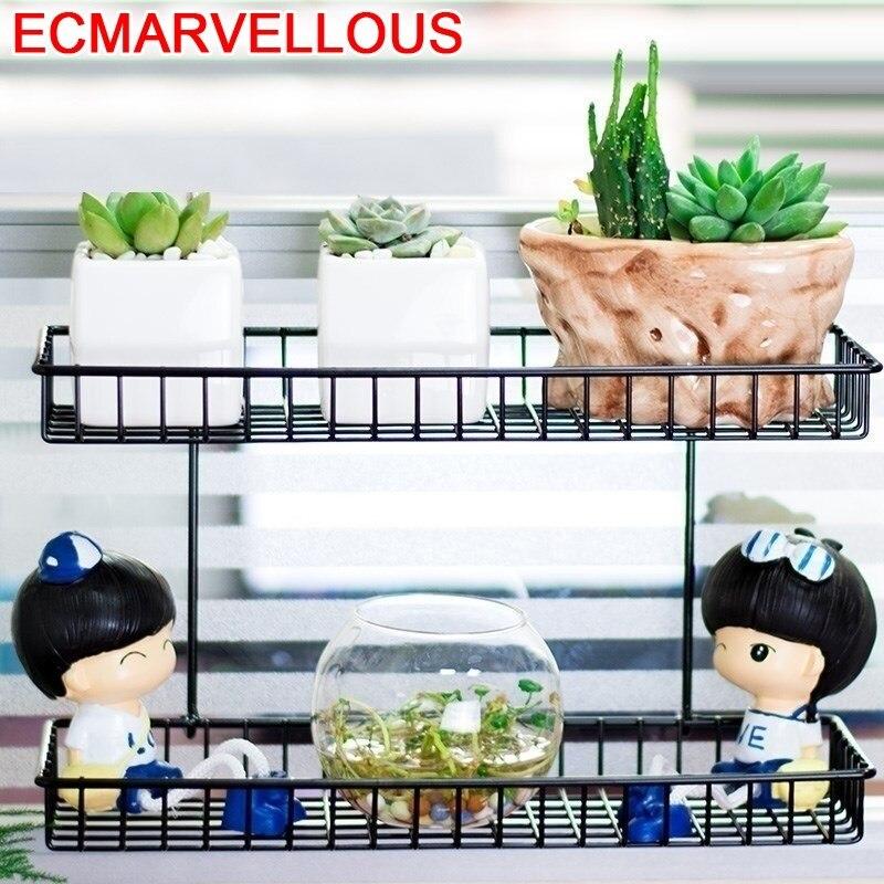 Dekoru Salincagi Decoration Terrasse Metal Garten Dekoration Mensole Per Fiori Stand Balkon Balcony Flower Shelf Plant Rack