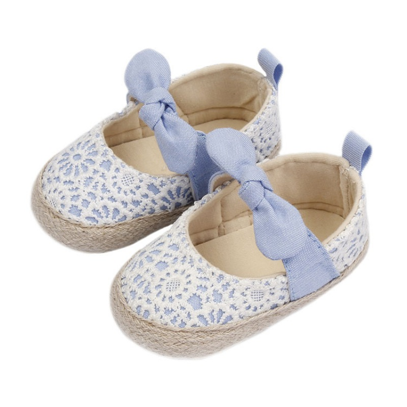 Baby Shoes Prewalker Cotton First Sneaker With Elastic Band Soft Sole Embroidered Shoes For Toddler