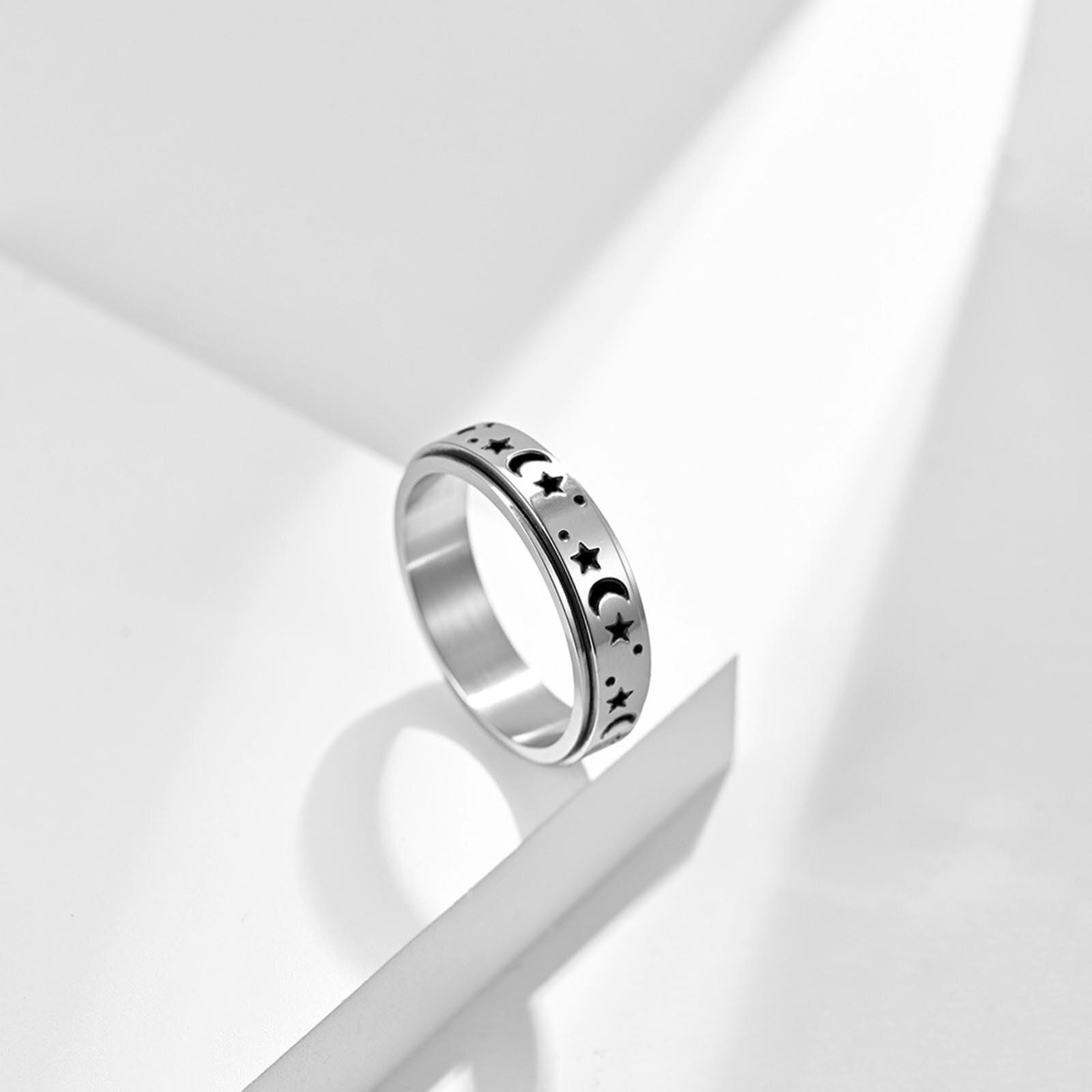 Модная вращающаяся цепь из нержавеющей стали, кольцо Для пар, кольцо с пескоструйной обработкой, кольцо, замечательный подарок, Бижутерия Д...
