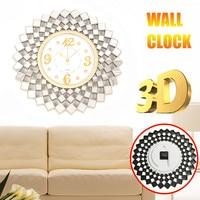 New 3D DIY Metal Art Wall Clock Circular Retro Roman Vintage Large Mute Decorative Clock For Home Office Modern 45x45cm