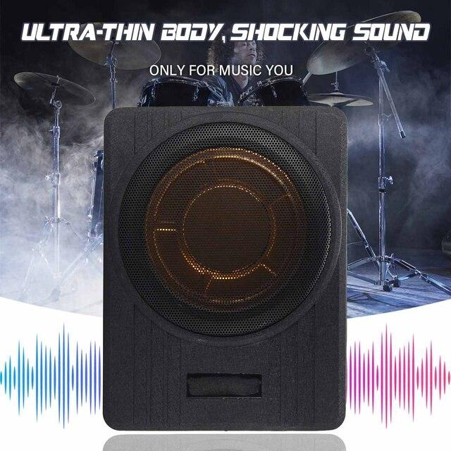 10 Inch 600W Car Subwoofer Car Audio Slim Under Seat Active Subwoofer Bass Amplifier Speaker Car Amplifier Subwoofers Woofer 12V 2