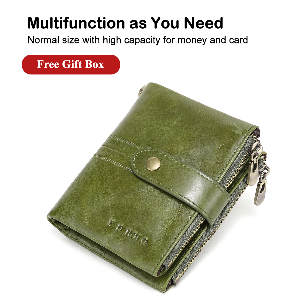 X.D.BOLO 2019 Wallet Female Fashion Women Leather Wallet Credit Card Holder Wallets Light Green Ladies Purse Wallet For Womens