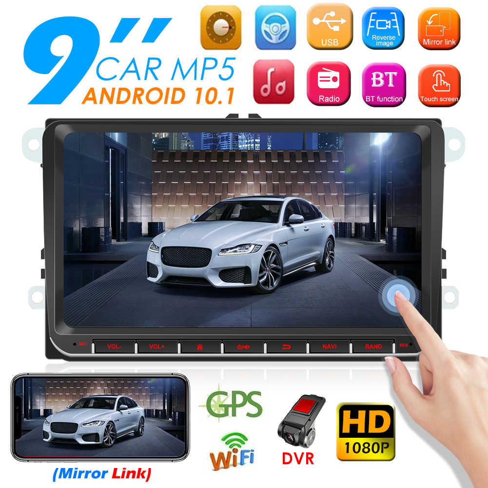 Android 10.1 Auto Radio Multimedia Video Player 9 Inch Fm Wifi Bluetooth Gps Navigatie Auto Stereo Gps In Dash Head unit Voor Vw