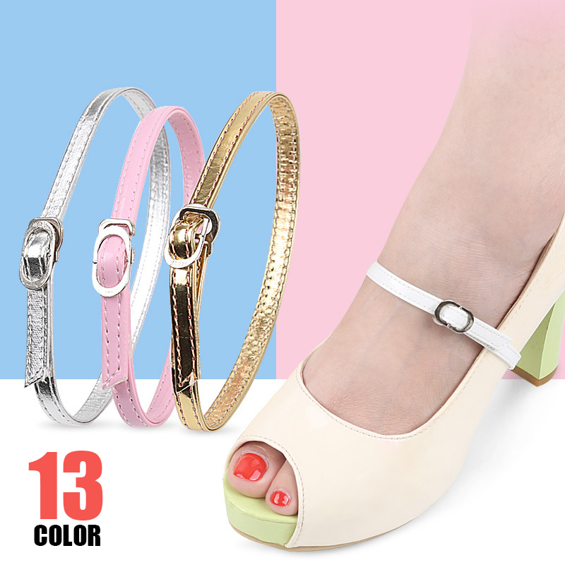 Womens Detachable Shoe Straps With Buckle, High Heels Anti Slip Shoe Strings Ankle Shoelace Replacement Accessories